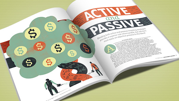 Active and passive trading strategies